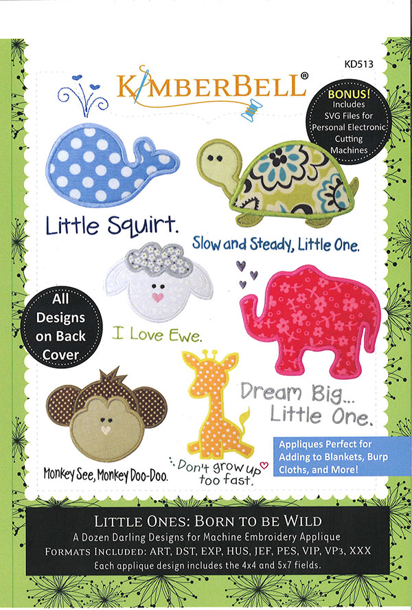 SALE Little Ones Born To Be Wild Emb kd513