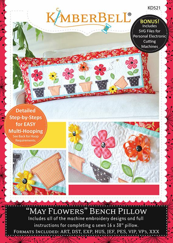 May Flowers Bench Pillow W/CD
