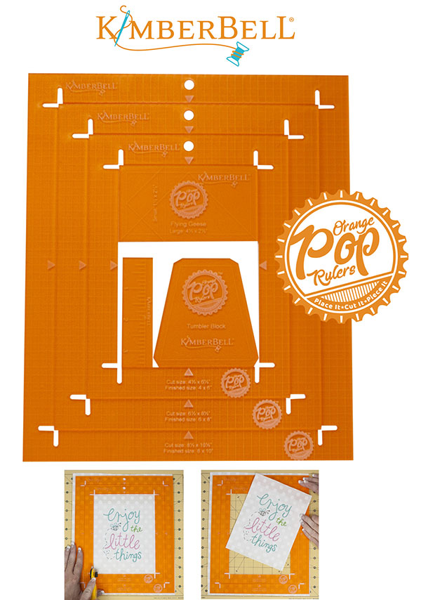 Orange Pop Rulers/Rectangle Set