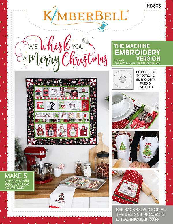 Kimberbell We Whisk You A Merry Christmas - Embroidery CD