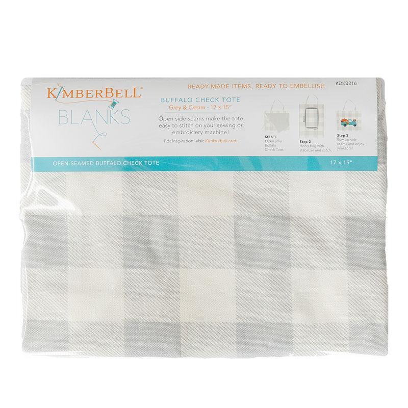 Kimberbell Tote Buffalo Check Gray/Cream
