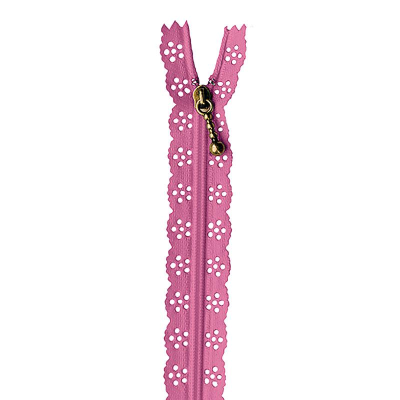 Lace Zipper 14 Flamingo