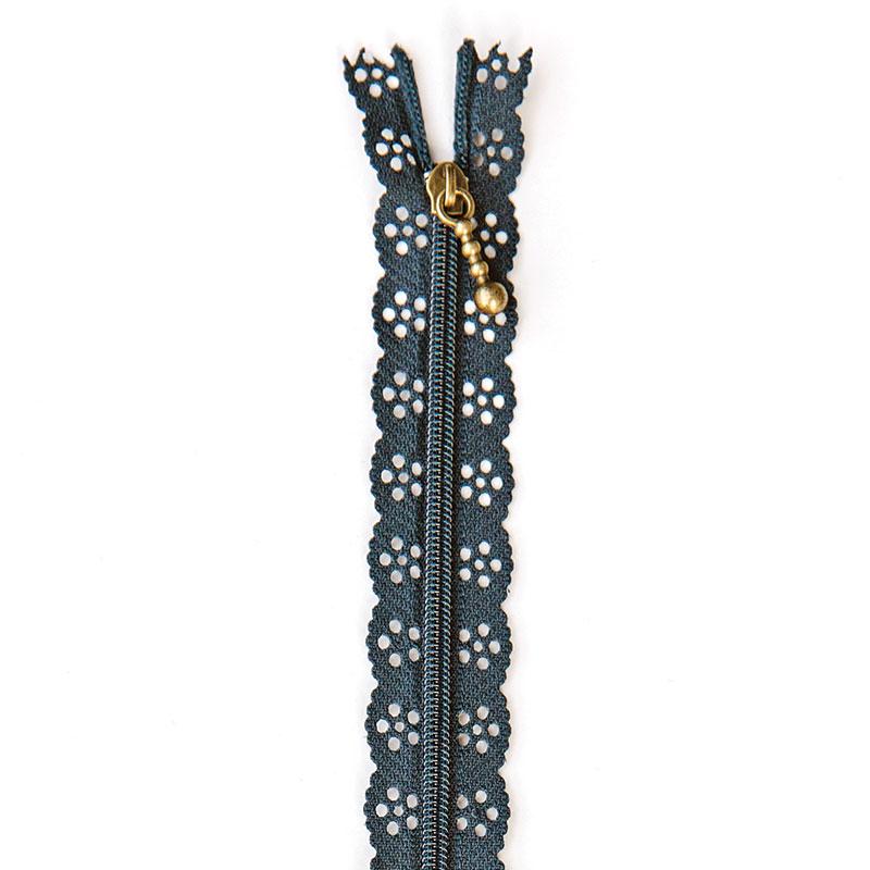 Lace Zipper 14 Navy