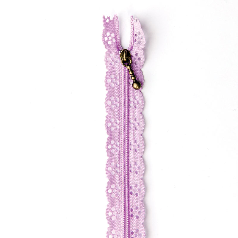 Lace Zipper 14 Lavender