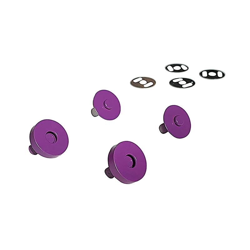 Magnetic Snaps Purple 2ct