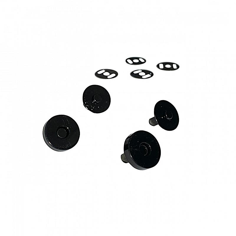 Magnetic Snaps Black 2ct