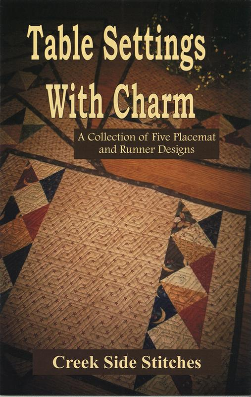 Table Settings With Charm Pattern Booklet