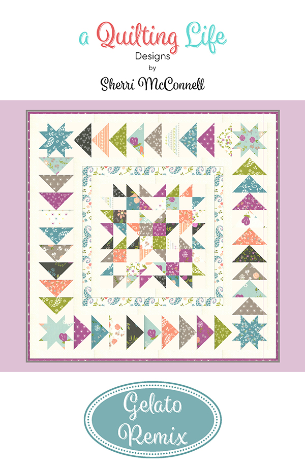 Balboa Charm Pack friendly Gelato Remix Pattern, 30 x 30 by Quilting Life Design
