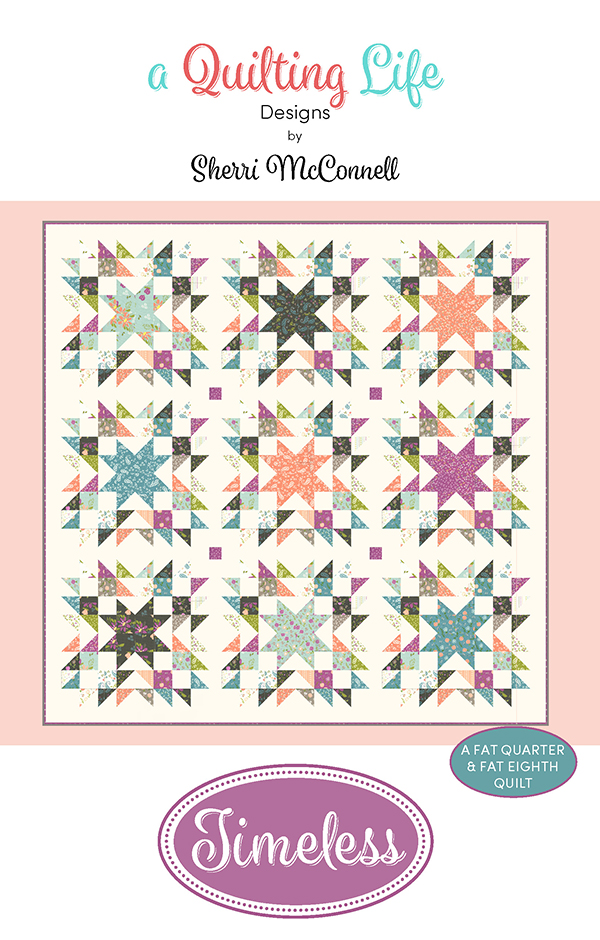 Balboa Timeless Fat Eight friendly Pattern, 82 x 82 by Quilting Life Design