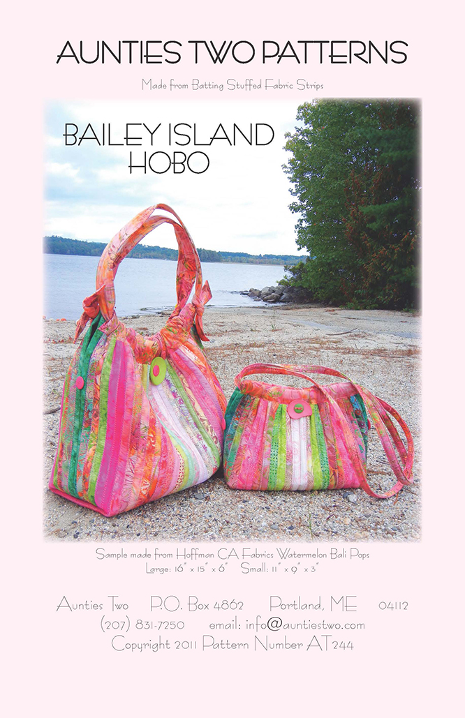 Bailey Island Hobo Bag Pattern by Aunties Two