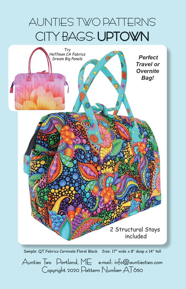 City Bag Uptown Pattern /w 2 Stays