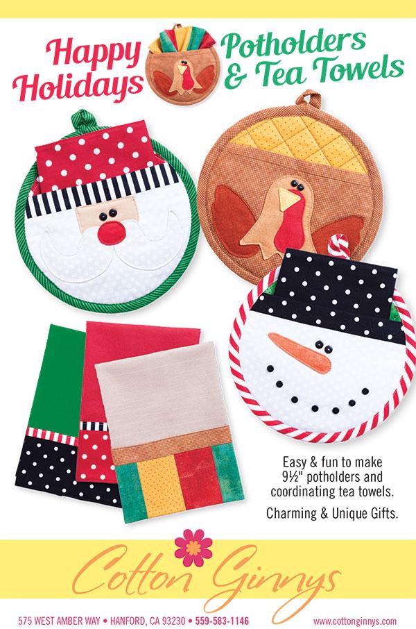 Happy Holidays Potholder & Tea