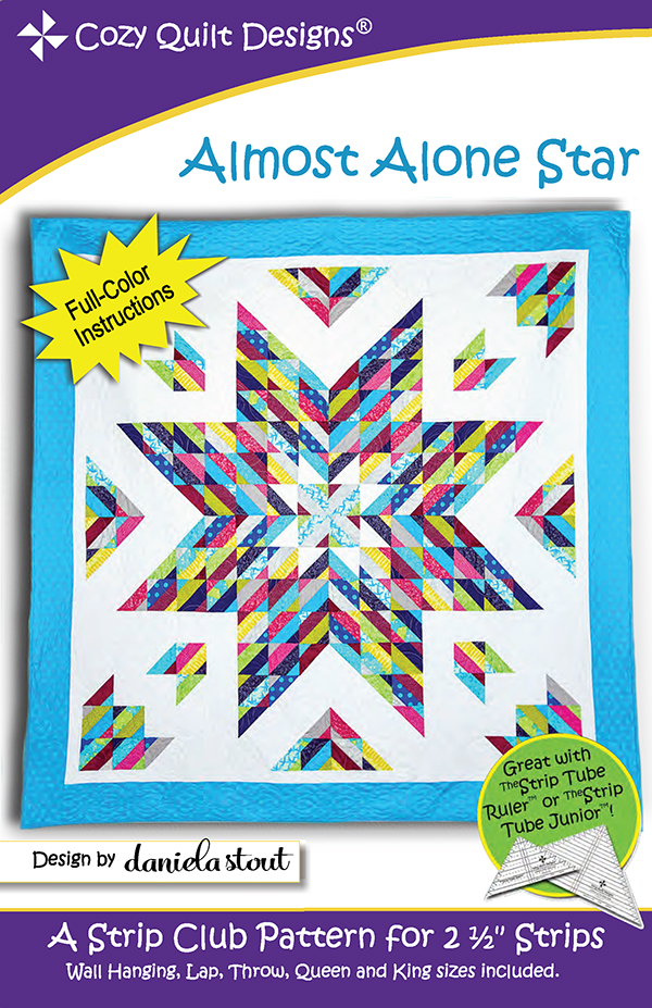 Almost Alone Star, 2 1/2-inch Strip Pattern, Cozy Quilt Designs