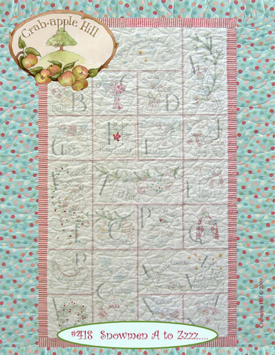 Crabapple Hill Snowmen A to Zzzzz.... Quilt Pattern