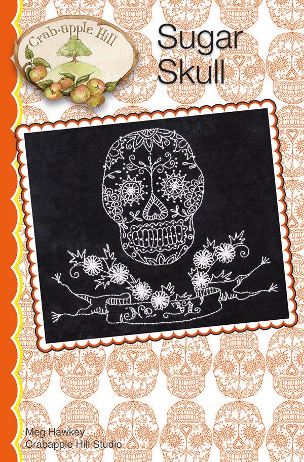 Crab Apple Hill- Sugar Skull Pattern CH 338