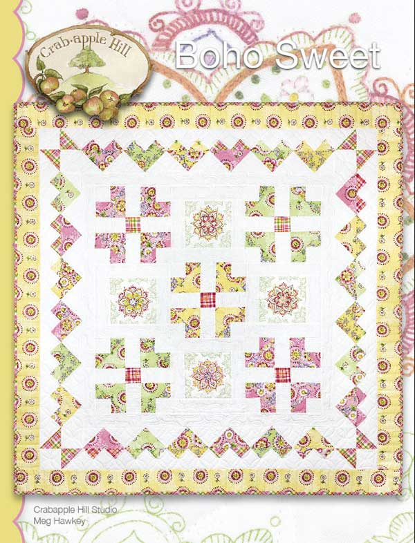 Bono Sweet Embroidery Quilt Pattern by Crabapple Hill