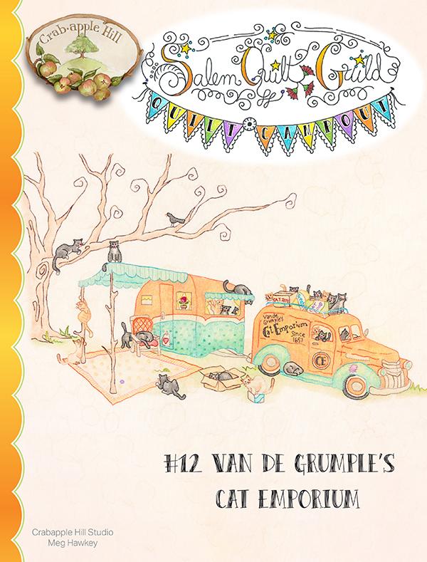 Salem Quilt Guild's Quilt Campout #12 Van De Grumple's Cat Emporium