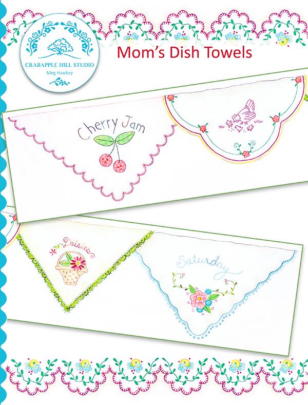 Crabapple Hill Summer Ktchn #8/Moms Dish Towel