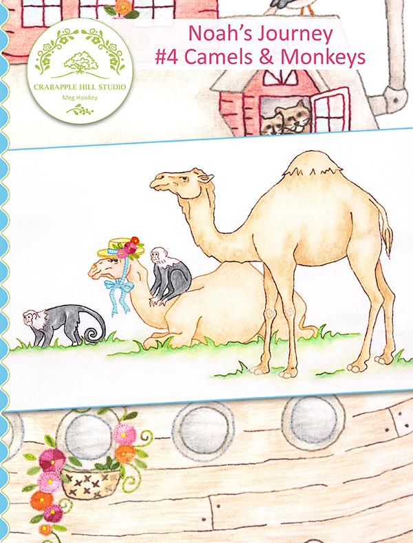 Crabapple Hill Studio - Noah's Journey BOM: #4 Camels & Monkey