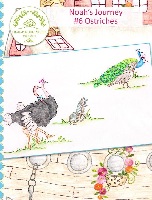 Crabapple Hill Studio - Noah's Journey BOM: #6 Ostriches