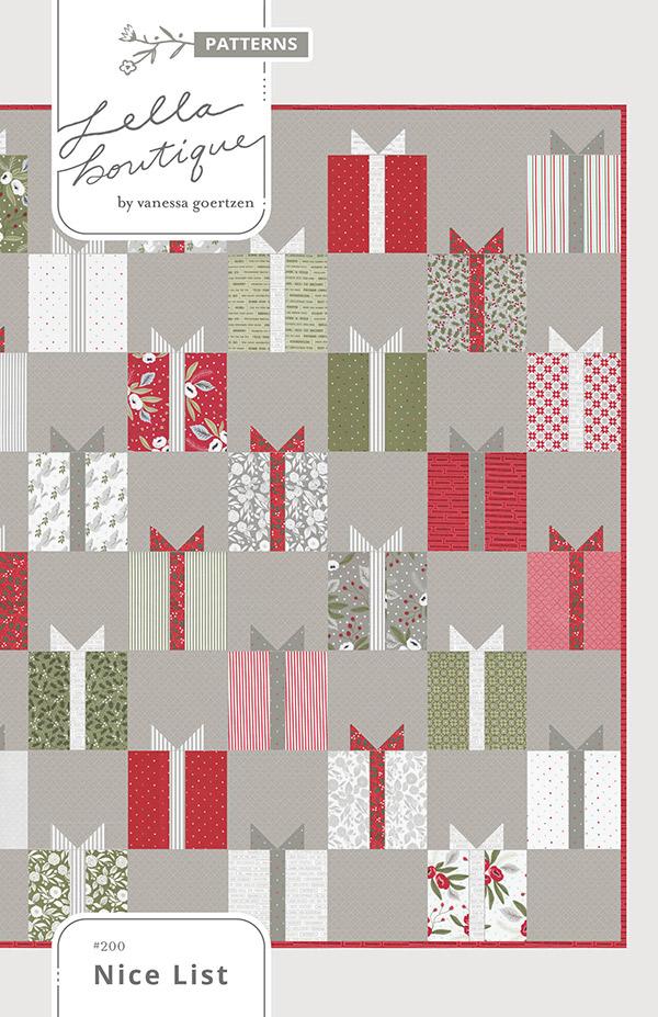Nice List Quilt Pattern - 76 1/2 x 81 1/2