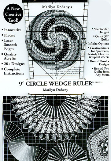 9 degree Circle Wedge Ruler 9 inch by Marilyn Doheny