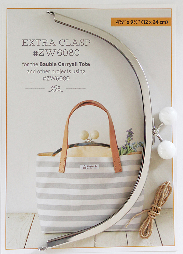 Clasp Bauble Carryall Tote