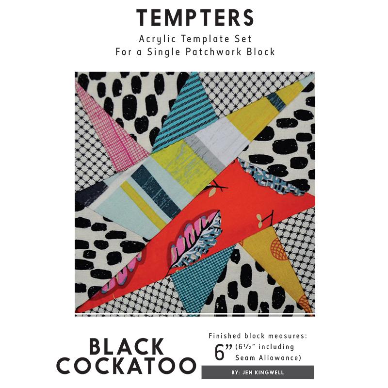 Black Cockatoo Tempter Template - Jen Kingwell Designs