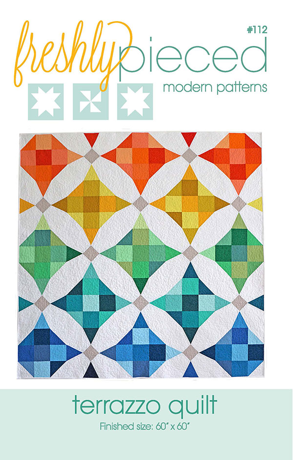 Terrazzo Quilt Pattern by Freshly Pieced