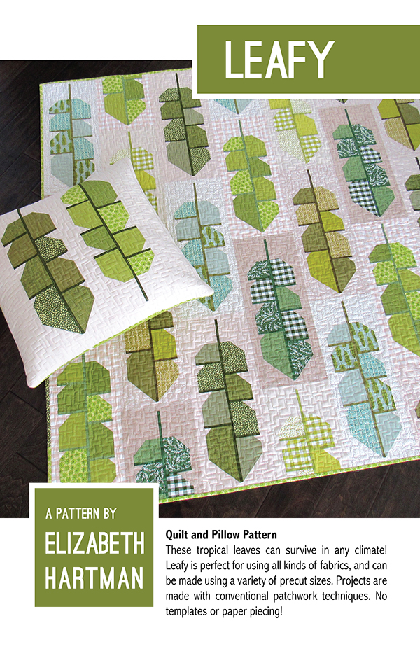 Leafy Tropical leaves Quilt Pattern