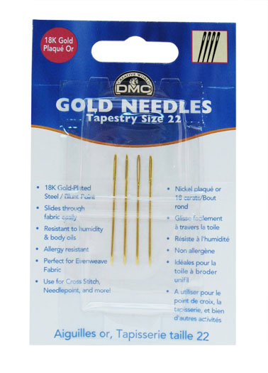 Needles Gold Tapestry Sz 22