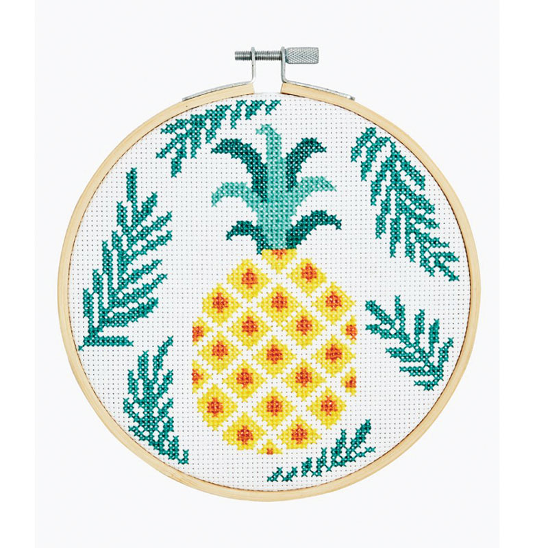 Counted Cross Stitch Kit DMC - pineapple - 6 inch