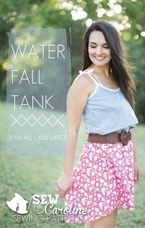 Water Fall Tank Pattern by Sew Caroline