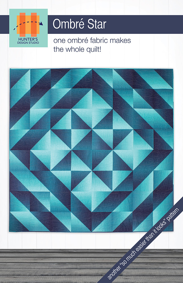HDS 054 Ombre Star Pattern by Hunter's Design Studio