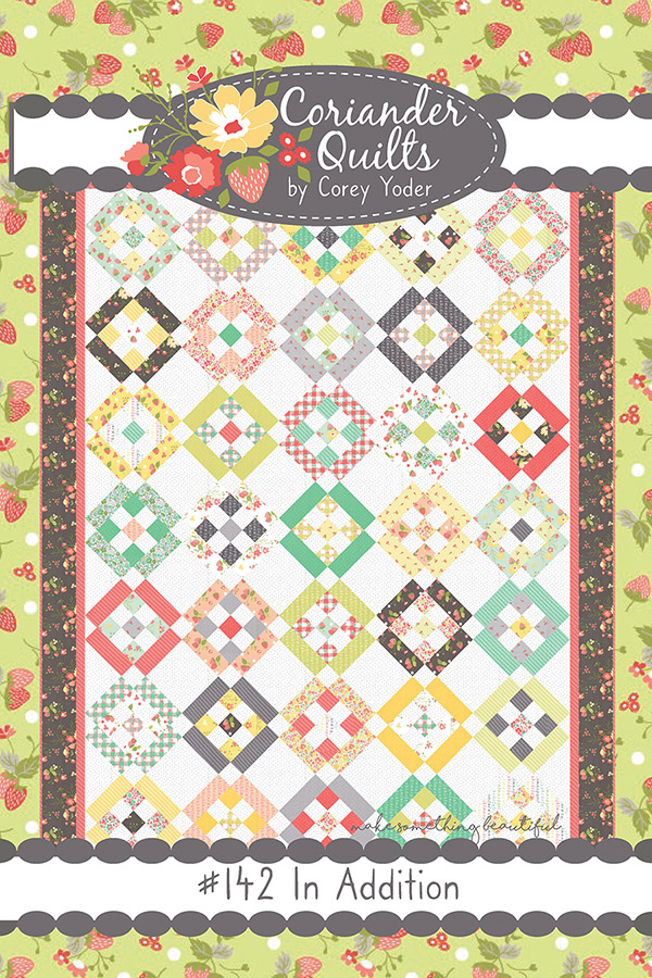 In Addition Jelly Roll Pattern by Corey Yoder from Coriander Quilts