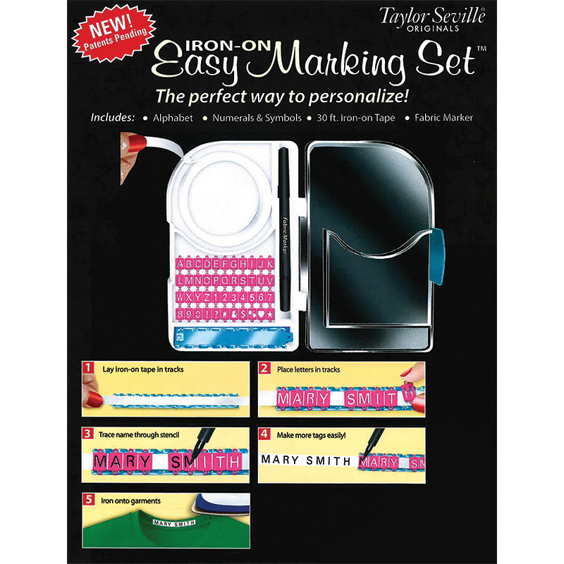 Easy Iron On Marking Set