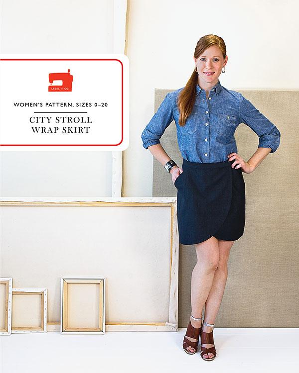 City Stroll Wrap Skirt LC 014CS Liesl + Co