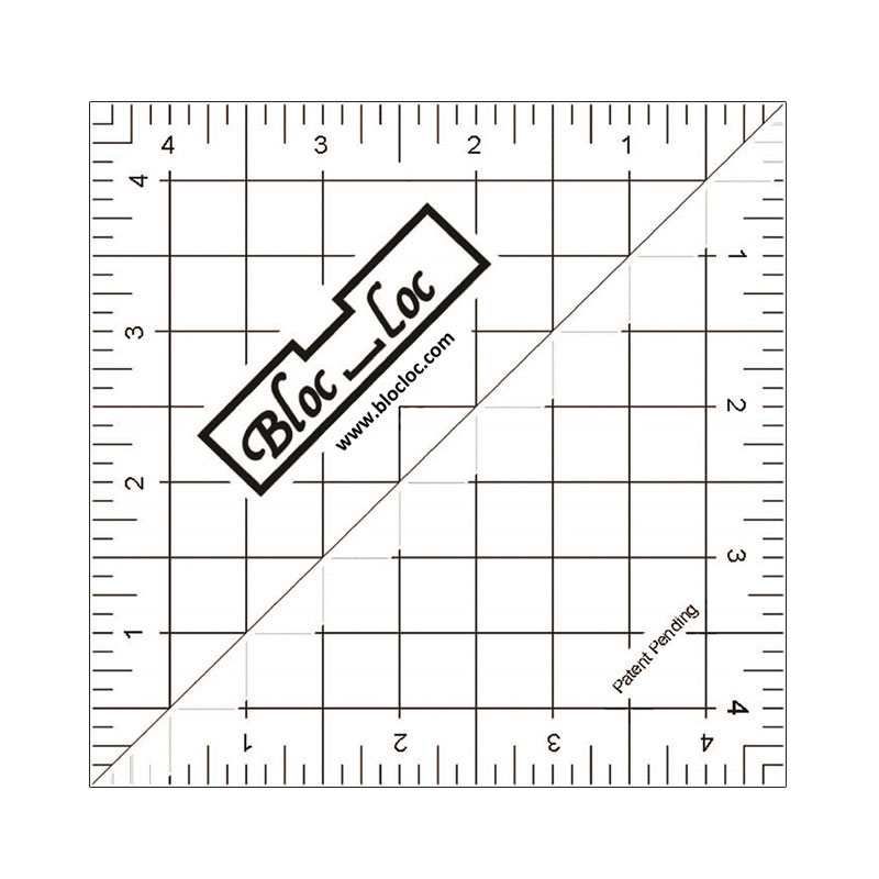 Half Sq Triangle Ruler 4.5 by Bloc Loc