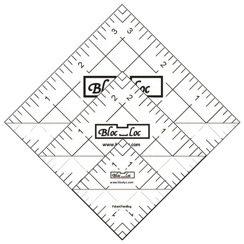 Half Square Triangle Ruler Set4