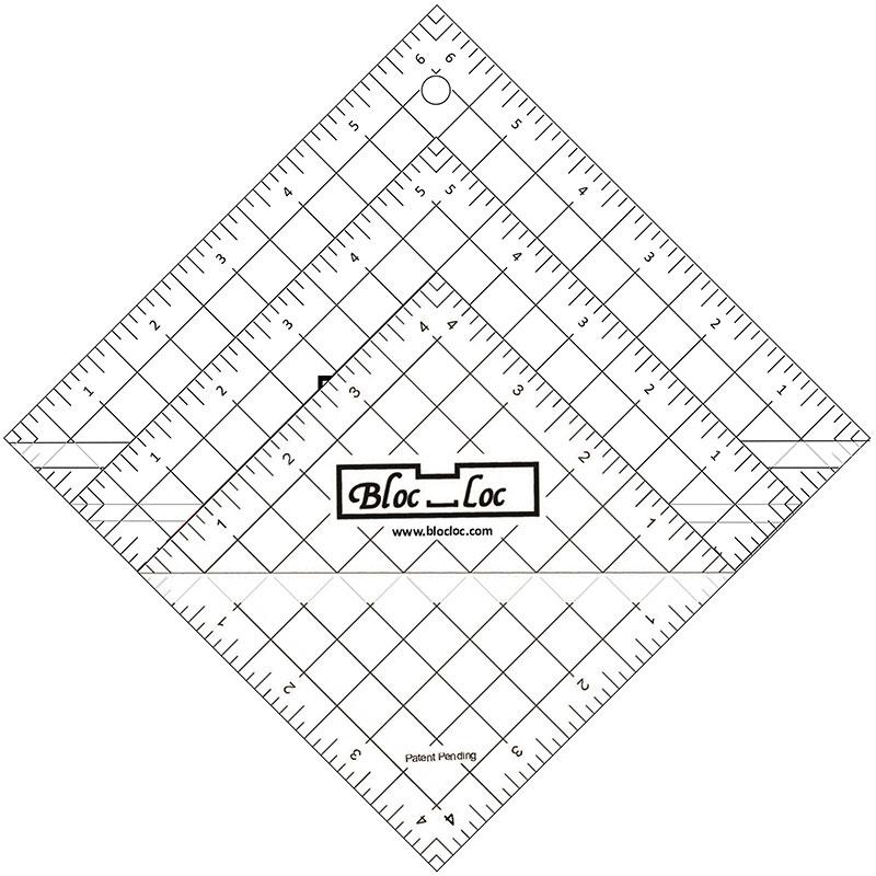 Bloc Loc - Half Square Triangle Ruler Set 5 (3 Rulers)