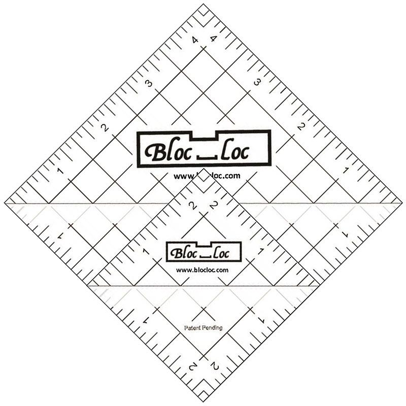 Bloc Loc Half Square Triangle Ruler Set #6