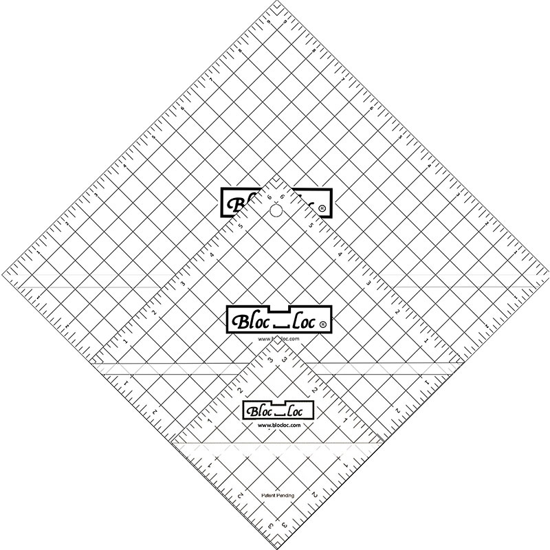 Half Square Triangle Ruler Set 7