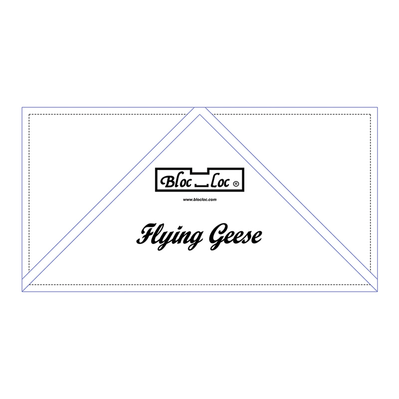 Bloc loc Rulers Flying Geese Ruler 5 x 10