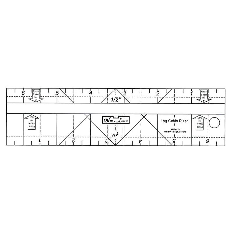 Bloc-Loc Log Cabin Ruler 1/2 & 1