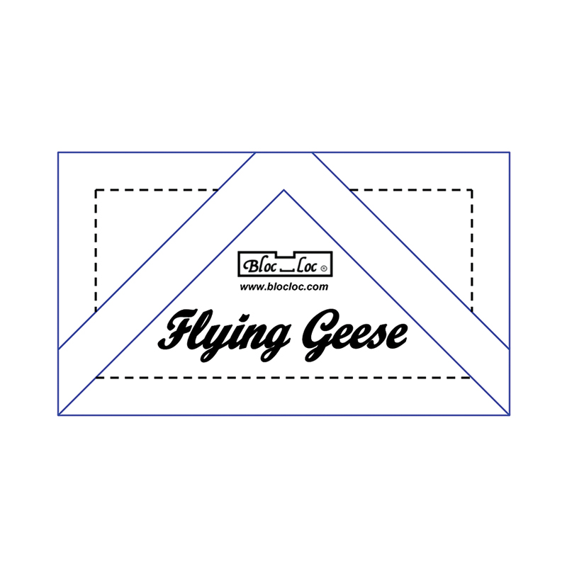 Bloc loc Ruler Flying Geese Ruler 1 7/8x3 3/4