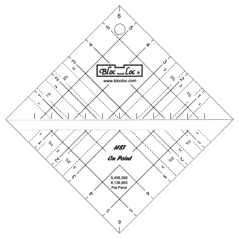 Bloc loc Half Squar Triangle On Point 6