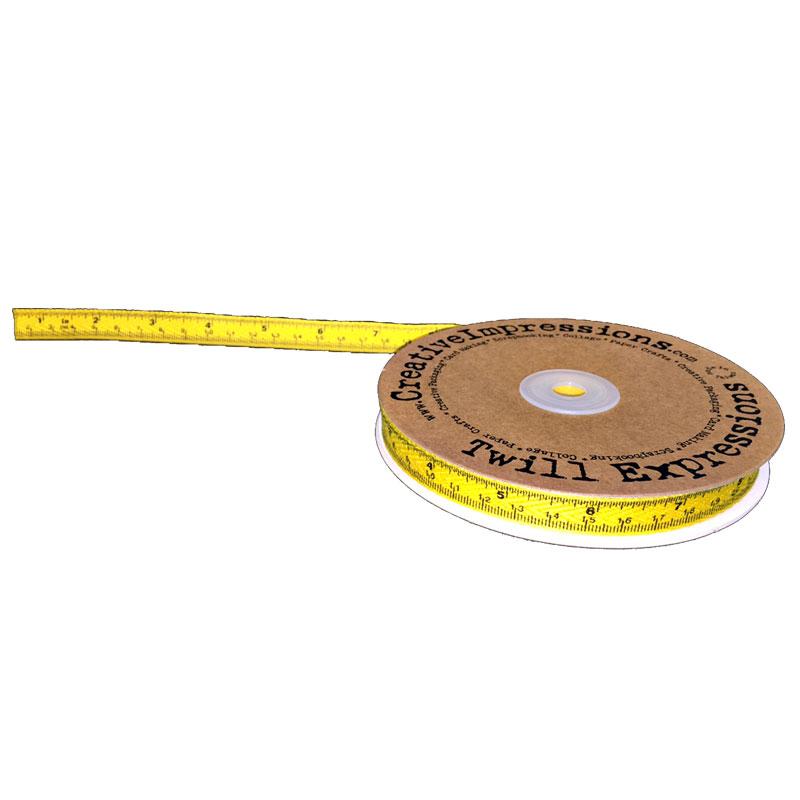 Tape Measure Twill Yellow