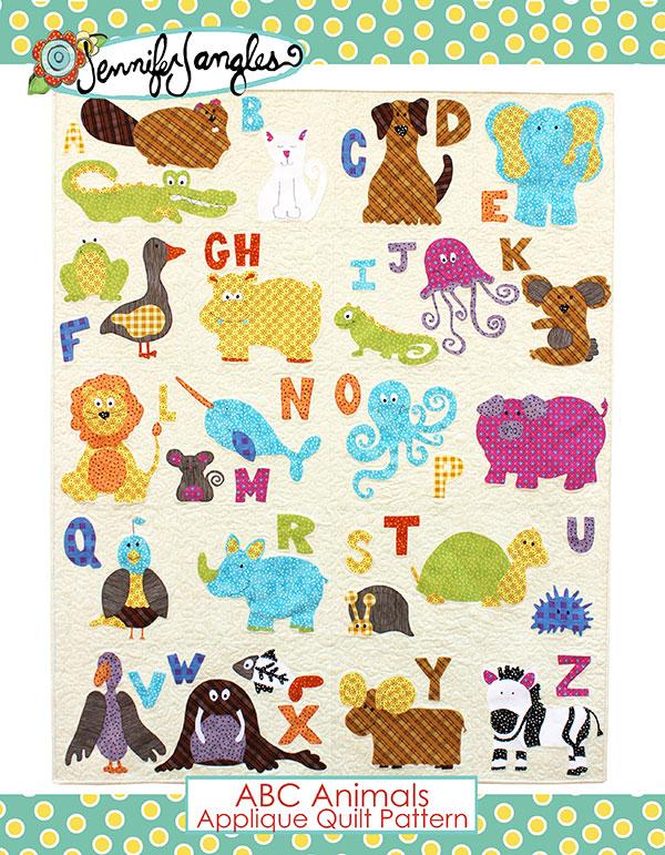 ABC Animals - Applique Quilt Pattern