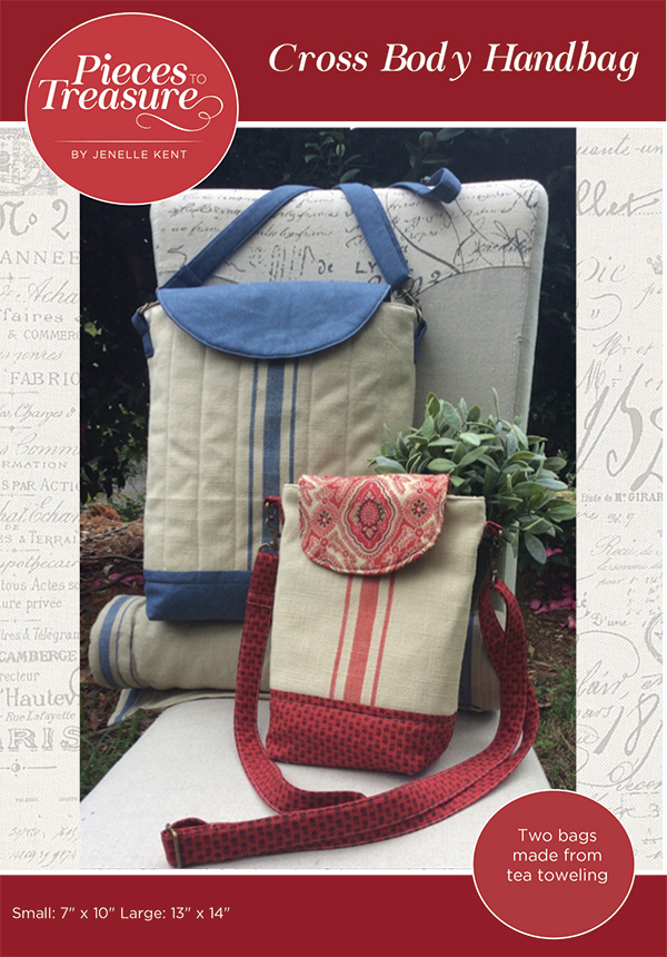 Cross Body Handbag made with toweling