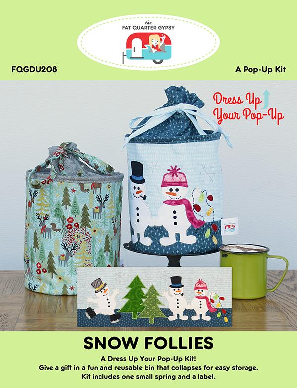 Fat Quarter Gypsy Snow Follies Pop Up Kit